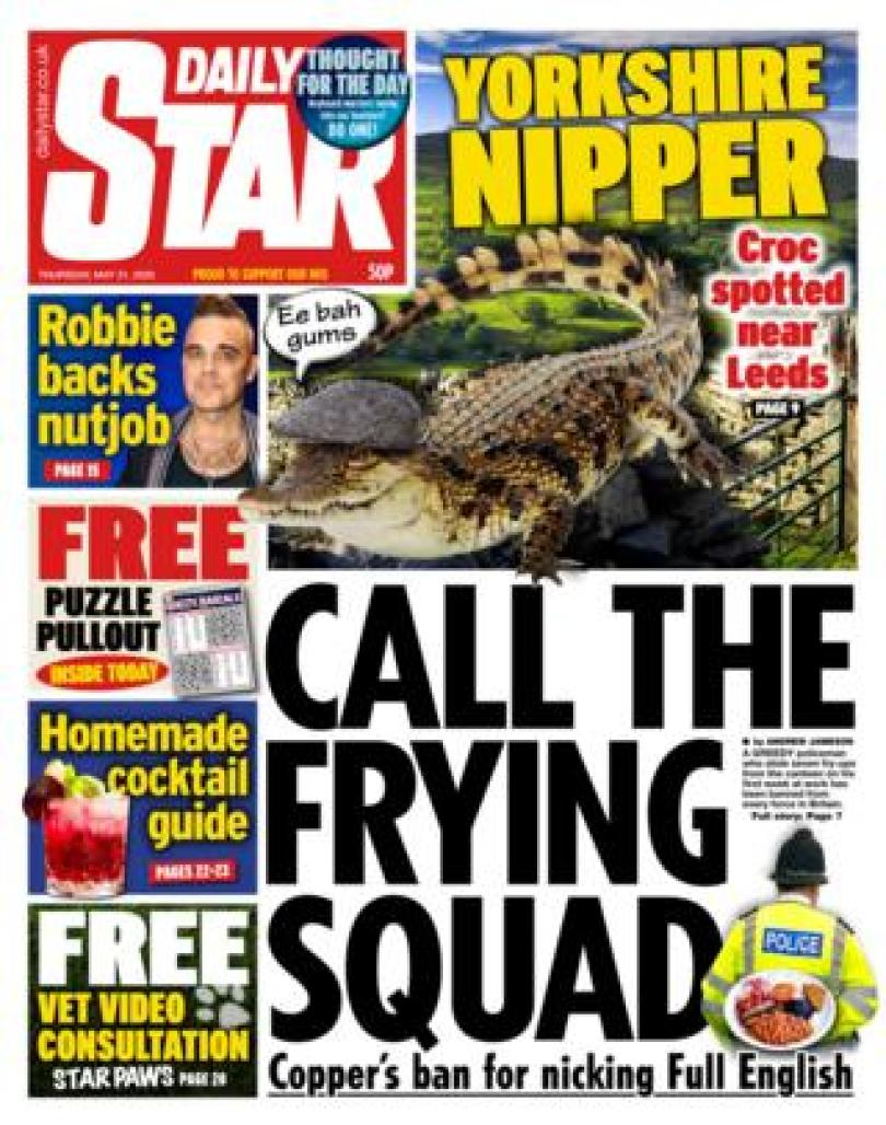 The Daily Star front page 21/05/20