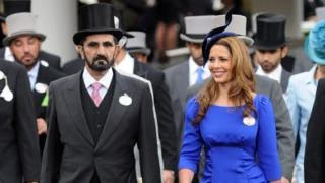 Dubai ruler Sheikh Mohammed Al-Maktoum (left) and Princess Haya Bint Al-Hussein at Ascot racecourse, the UK. Photo: June 2012
