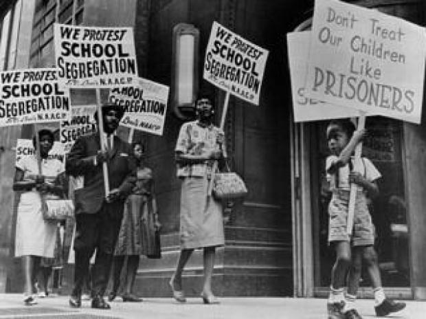 Protest against school segregation in 1963
