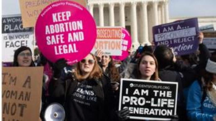 Abortion protests outside the US Supreme Court