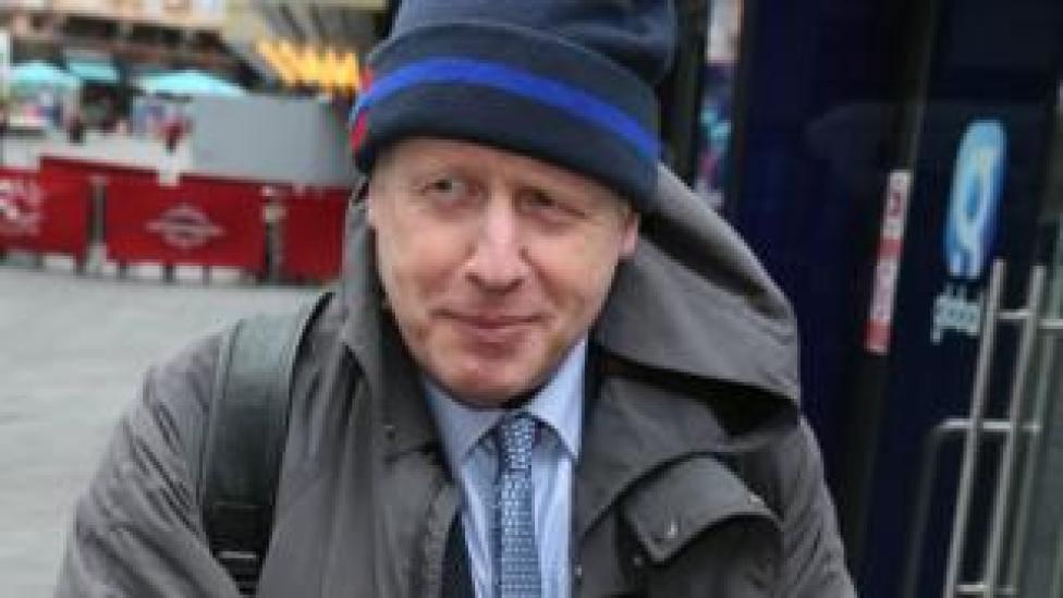 Boris Johnson outside LBC
