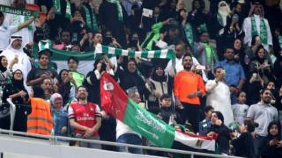 sport Saudi families cheer at the King Abdullah Sports City known as