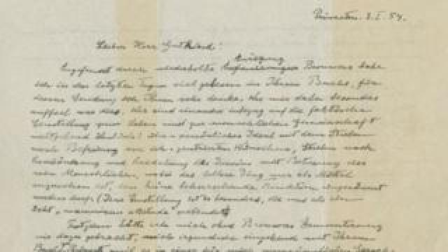 The God Letter, an autographed letter signed by Albert Einstein