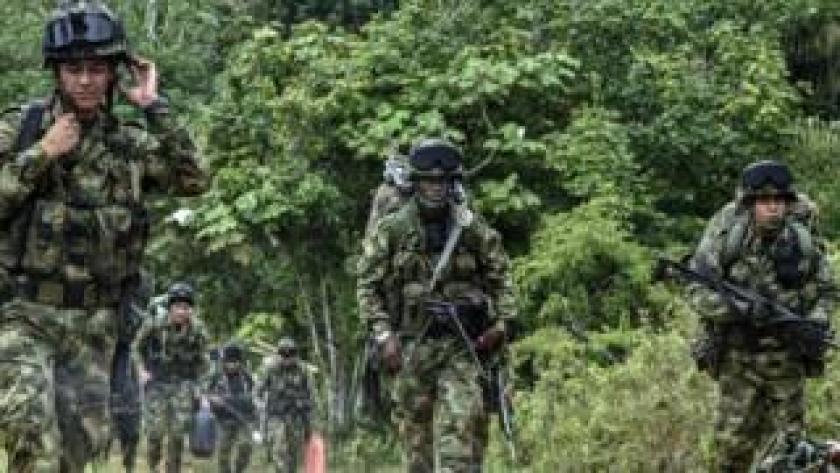 Soldados colombianos.
