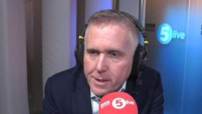 Ford Europe boss Stuart Rowley in the 5 live studio.