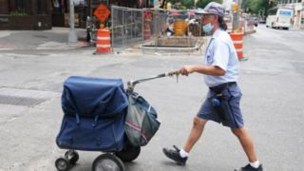 trump Postal walker in New York