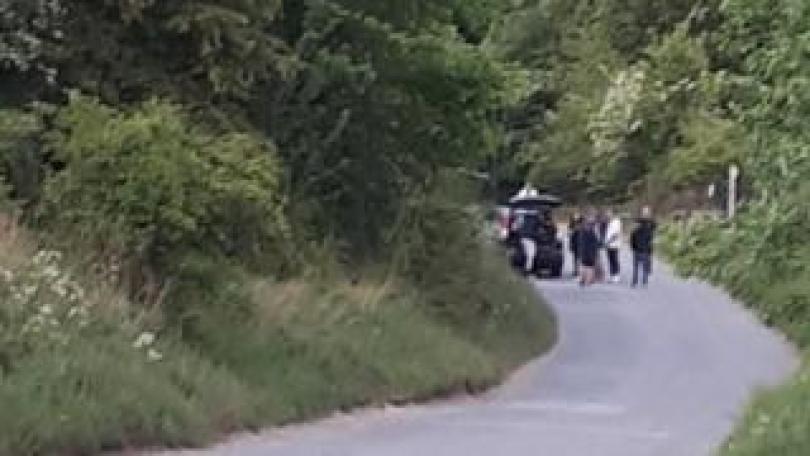 Some revellers leaving the scene