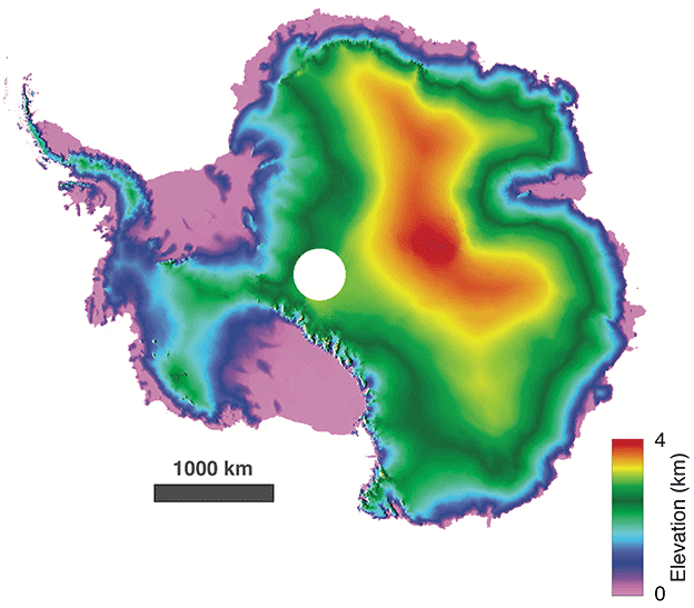 Digital Elevation Model of Antarctica