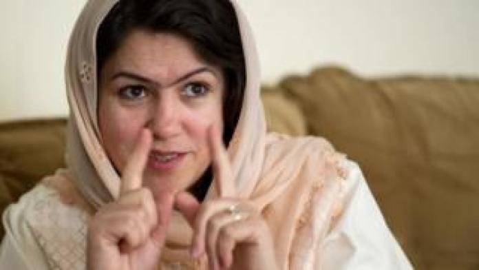 Fawzia Koofi talks during an interview in Kabul
