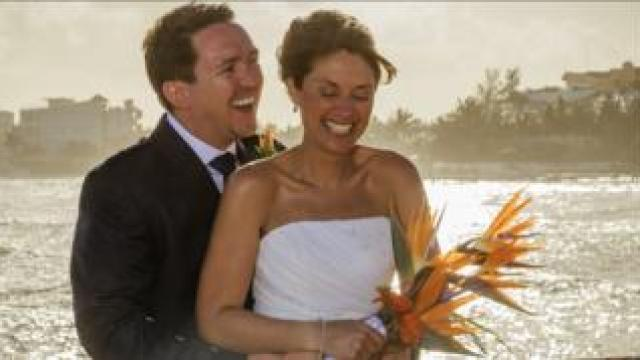 Jo and husband Martin on their wedding day