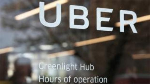 Uber office sign