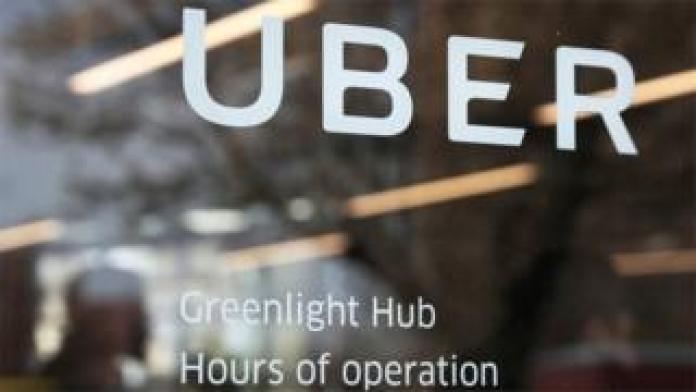 Uber office sign