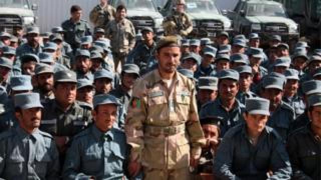 Gen Raziq at a police training college in Kandahar