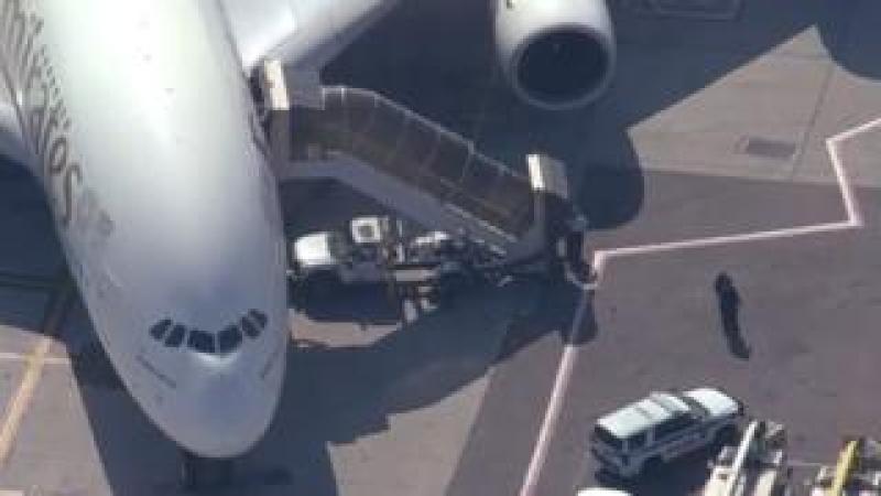 quarantined plane