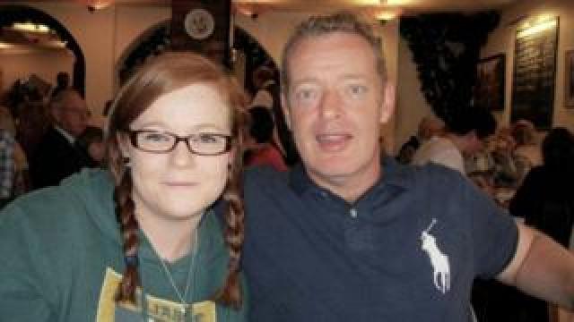 Mike Dorricott and daughter Sarah