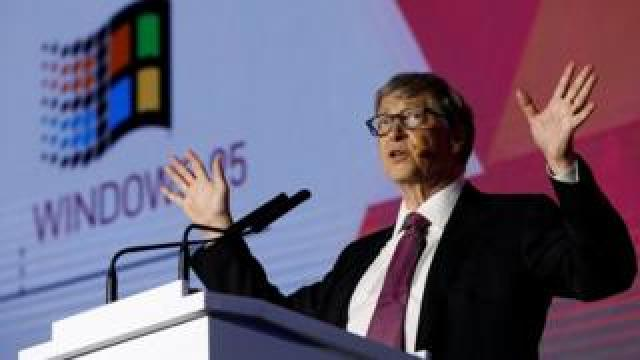 Microsoft founder Bill Gates speaks during the opening ceremony of the Reinvented Toilet Expo showcasing sewerless sanitation technology in Beijing, China November 6, 2018.