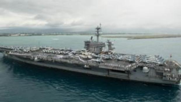 USS Theodore Roosevelt in Hawaii, April 2018