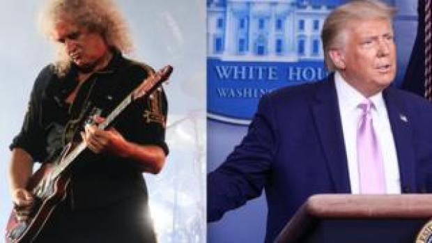 Queen's Brian May and Donald Trump