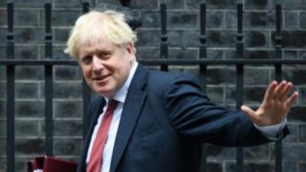 Boris Johnson outside Downing Street