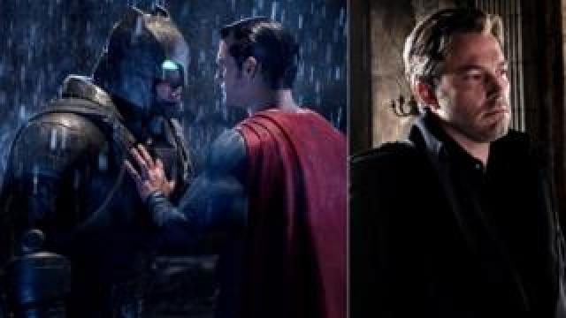 Ben Affleck with Henry Cavill in Batman v Superman: Dawn of Justice
