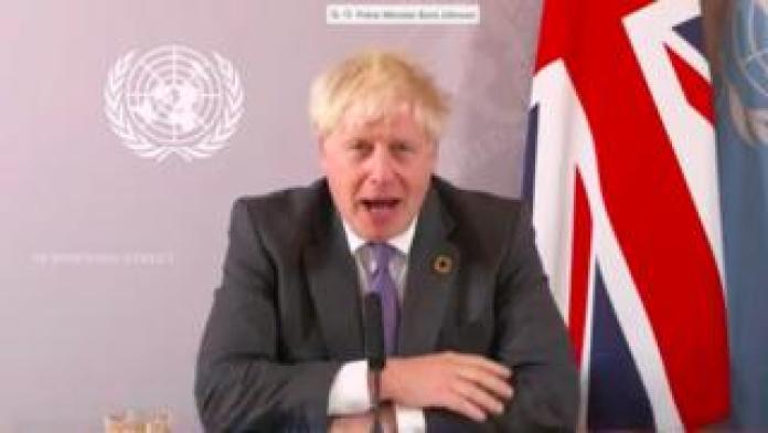 Boris Johnson at UN