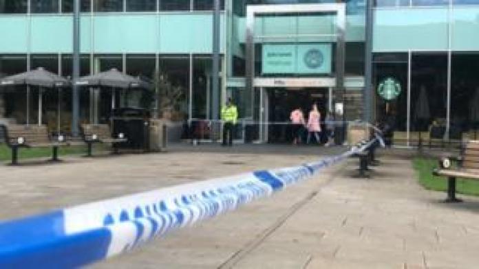 Police Cordon in Eldon Square