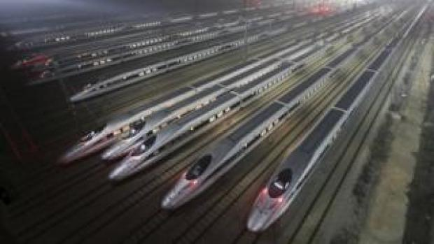 Chinese high-speed trains