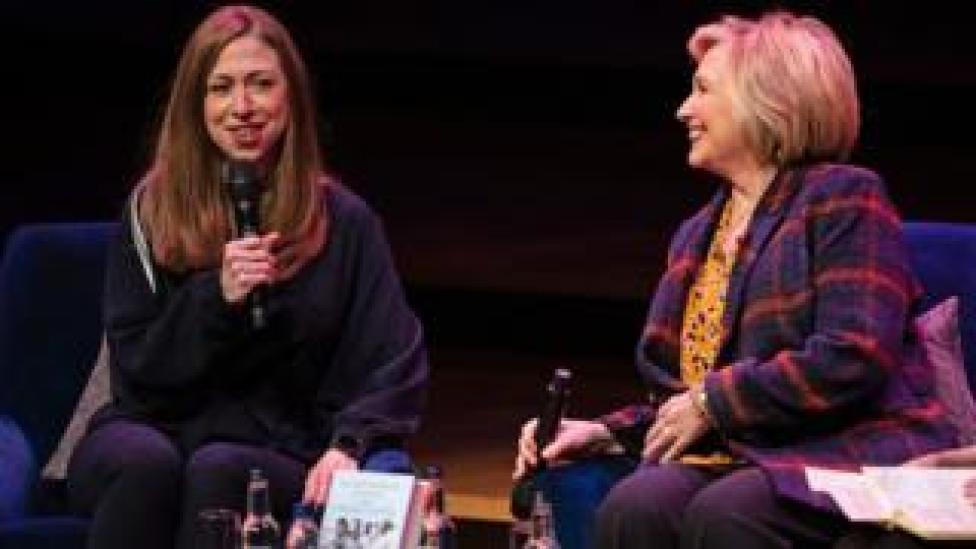 trump Chelsea Clinton (left) and Hillary Clinton