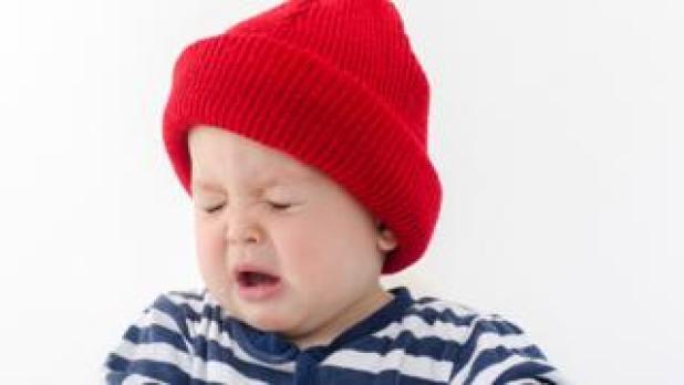 Baby sneezing