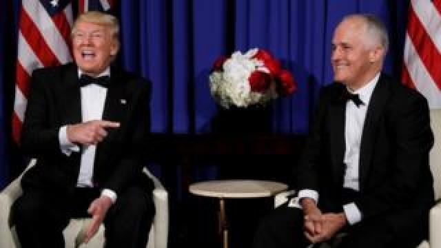 US President Donald Trump and Australian PM Malcolm Turnbull (4 May 2017)