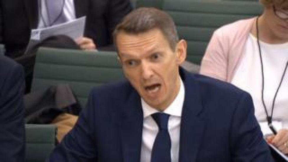 The chief economist at the Bank of England, Andy Haldane, gives evidence to the Treasury Select Committee