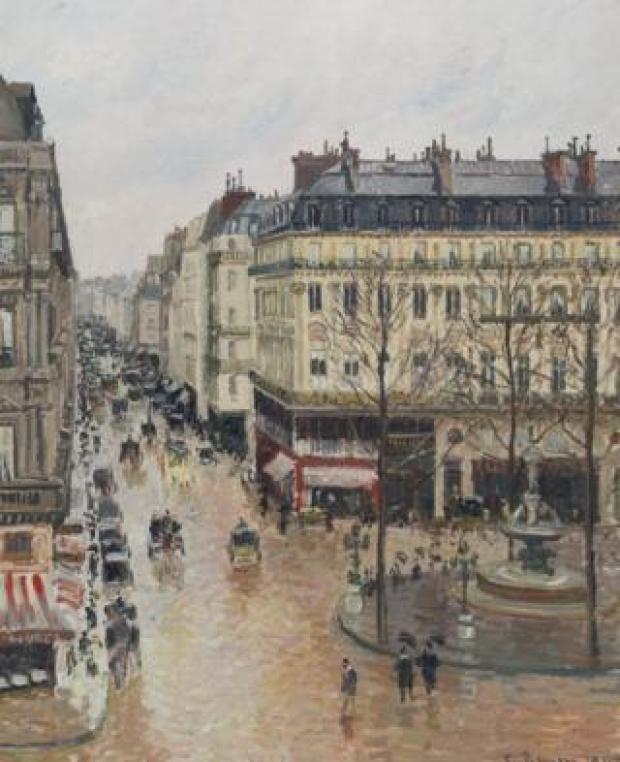 Camille Pissarro, 'Rue Saint Honoré in the Afternoon. Effects of Rain'