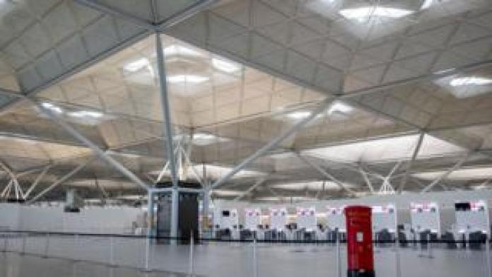 Stansted Airport looks deserted