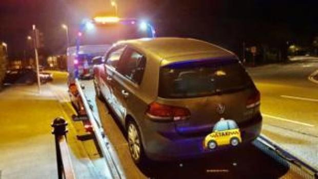 Police seized car in Rochdale