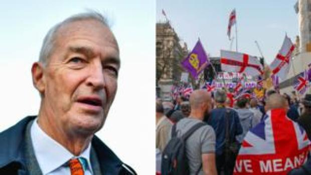 Jon Snow and the pro-Brexit march