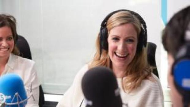 Rachael Bland in the studio