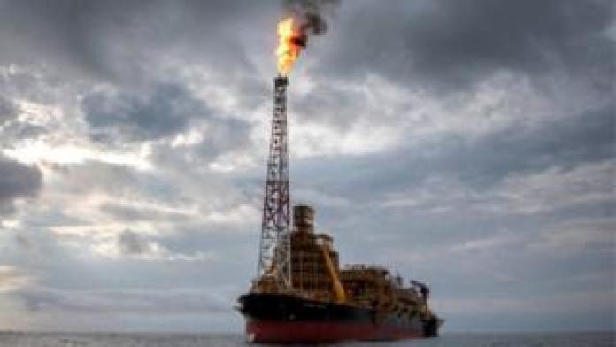 An oil production and storage vessel in the Atlantic Ocean