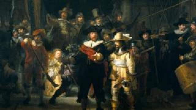 The Night Watch is pictured here in detail