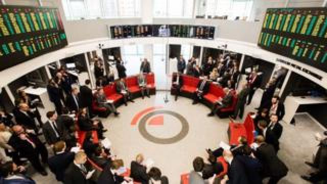 Metal traders in the Ring at the London Metal Exchange
