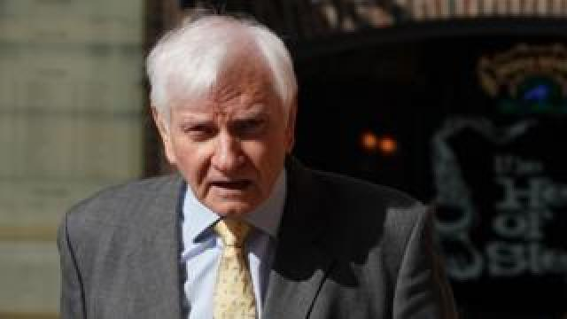 Harvey Proctor arriving at court