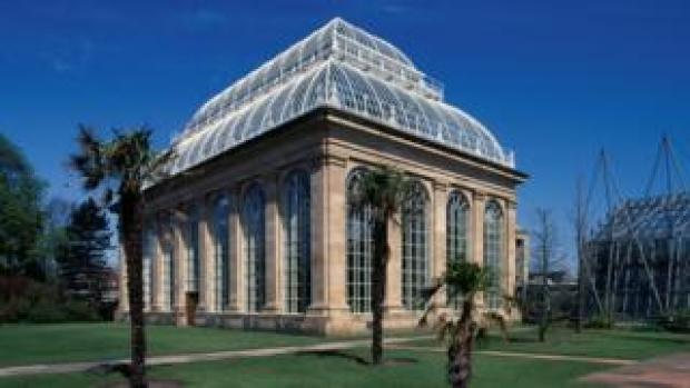 Palm house at Royal Botanic Garden in Edinburgh