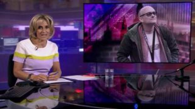 Emily Maitlis presenting Tuesday's Newsnight