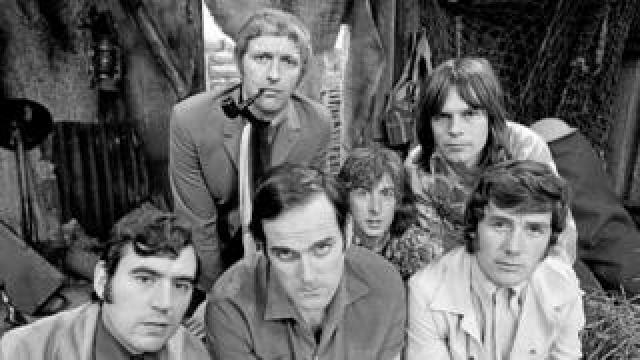 The Monty Python team in 1970
