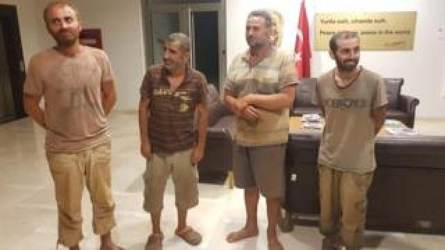 Freed Turkish nationals at the Turkey embassy in Nigeria