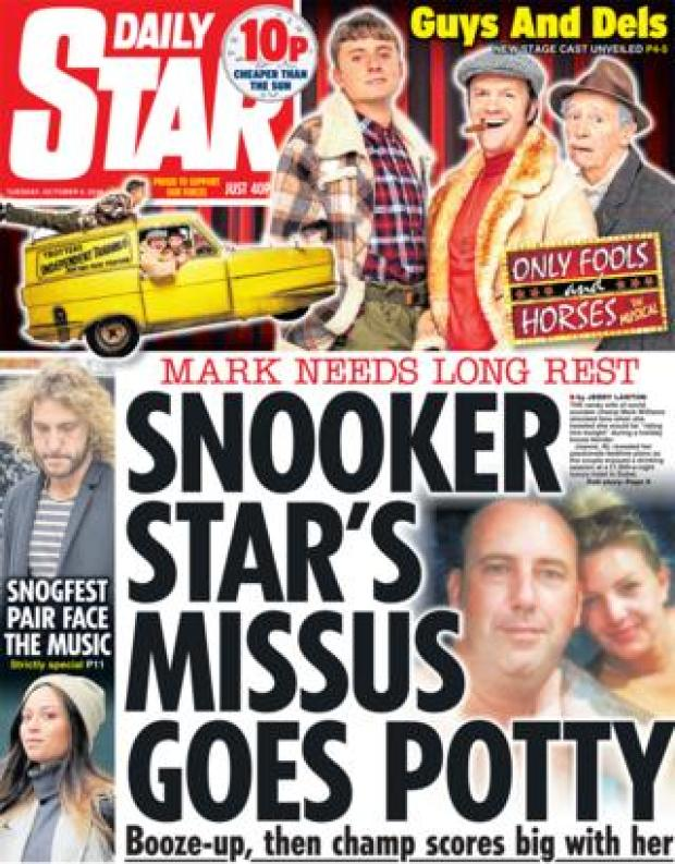 Daily Star front page - 09/10/18