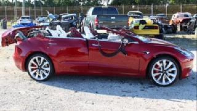 Tesla Model 3 after crash