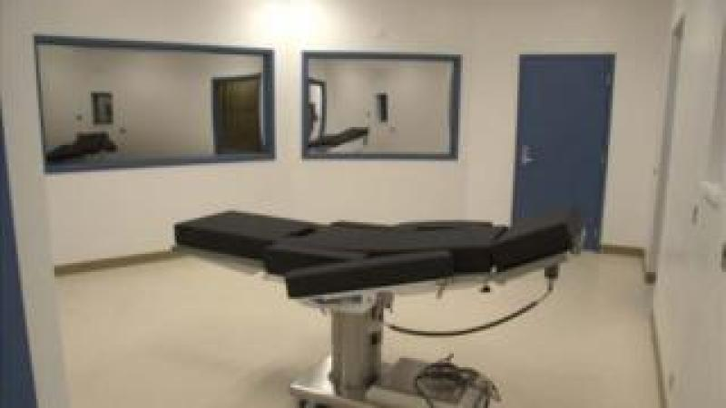 Photo of Nevada execution chamber