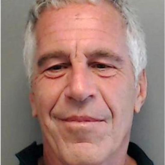 Florida Department of Law Enforcement arrest photo used in sex offenders card (predator flyer) on Jeffrey Epstein