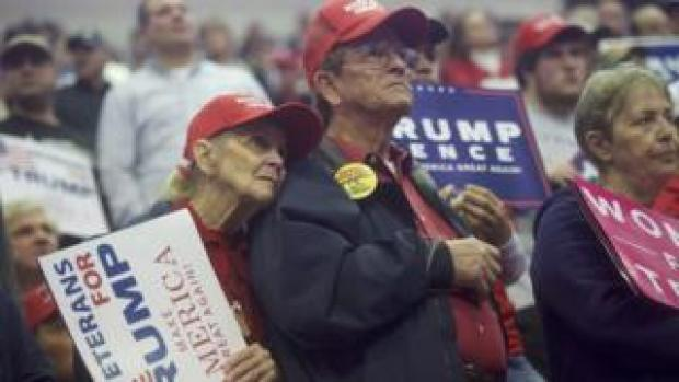 Supporters at Trump rally before 2016 election