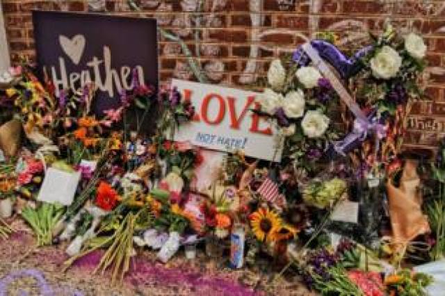 A memorial to Heather Heyer. Charlottesville, 2018